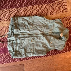 Lucky Brand army green vest size medium worn once